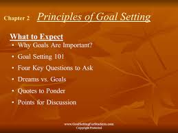 quote goals are dreams with deadlines goal setting for students ppt video online download
