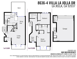 mission floor plans 8636 4 villa la jolla dr la jolla ca 92037 one mission realty