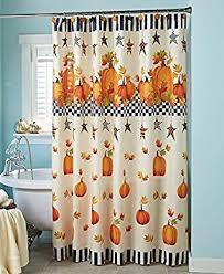 primitive pumpkin fall autumn bathroom shower