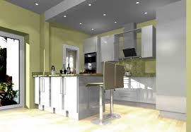 Light Green Kitchen Walls by Kitchen Good Looking U Shape Kitchen Decoration With Light Cherry