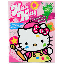 sanrio hello kitty 16 page childrens water coloring book
