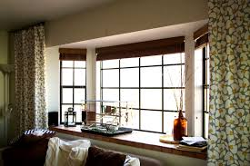 bathroom cool modern bay window curtain ideas home design seat