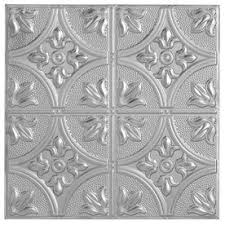 armstrong metallaire large floral circle nail up ceiling tile