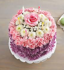 Flower Cakes Birthday Wishes Flower Cake Pastel 1800flowers Com 148666