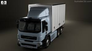 volvo 2011 truck 360 view of volvo fe hybrid box truck 2011 3d model hum3d store