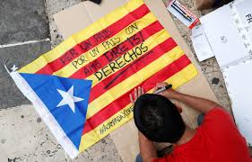 Picture Of Spain Flag Catalan Leaders Removed Spain Asserts Control Over Breakaway
