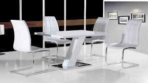 Gloss White Dining Table And Chairs White High Gloss Dining Table Set And 4 Chairs Homegenies