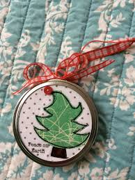 jar lid applique christmas ornaments
