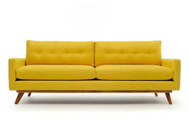 Modern Yellow Sofa Cheap Thrills The Nixon Mid Century Modern Sofa Is Retro Cool But