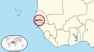 africa map gambia location of the gambia in the world map