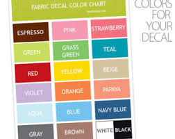 color chart sample etsy