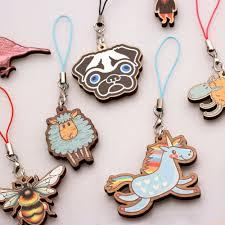 custom charm custom wood phone charms custom phone charm charms pendants