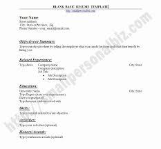 Resume Template Basic by Free Basic Resume Templates Microsoft Word Beautiful Basic Resume