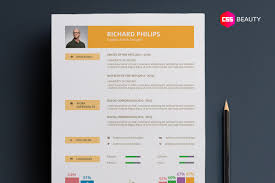 Different Types Of Resume Formats Modern U0026 Contemporary Resume Template For Word Photoshop Illustrator