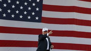 American Flag Backdrop Trump Losing The Presidential Election Will Be Bad For American