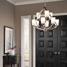 kichler dining room lighting shop kichler lighting layla 9 light brushed nickel chandelier at