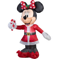 Gemmy Inflatable Christmas Decorations Outdoor by Gemmy Airblown Christmas Inflatables 5 U0027 Disney Minnie With Candy