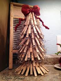 clothespin christmas tree christmas tree paper towel rolls and