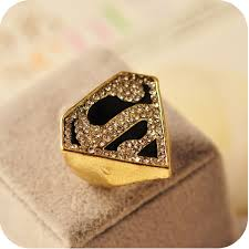 personalized gold rings personalized gold plate geometric inlaid s letter women