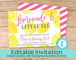 lemon invitation etsy