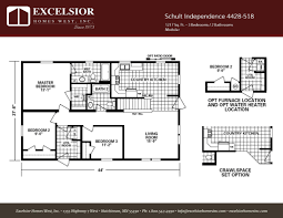 schult modular home floor plans schult independence 4428 518 excelsior homes west inc
