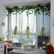 balcony curtain embroidered flowers tulle window screens door balcony curtain