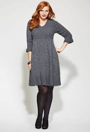 plus sweater dress how to wear a plus size sweater dress careyfashion com