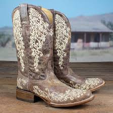 womens corral boots size 11 brown crater embroidered boots