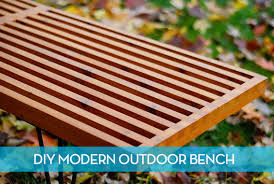 Building A Garden Bench Seat How To Make A Diy Mid Century Modern Outdoor Slat Bench Curbly