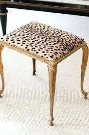vanities safavieh georgia black vanity stool animal print vanity