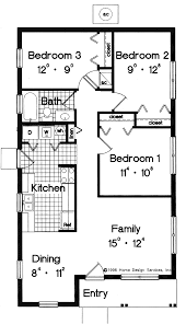 3 Bedroom Plan Simple Small House Floor Plans House Plans Pricing Small Floor