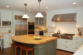 White Kitchens With Islands by White Kitchen Island With Butcher Block Top Inspirations Solid