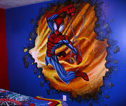 miles woods art wall murals the amazing spider man