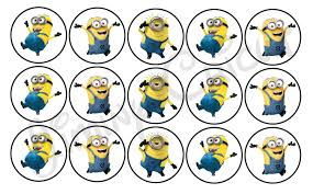 minion cupcakes minion cupcake toppers tags seals decorations diy digital