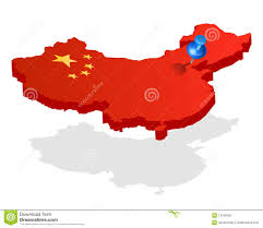 Beijing China Map by China 3d Flag Map With Pin On Capital Royalty Free Stock Photo