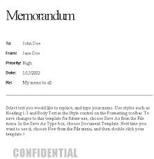 memorandum styles format format