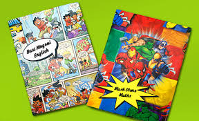 comic wrapping paper book covers back to school crafts bostik