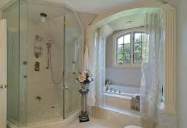 decorating an alcove bathroom shabby chic style with stone tile