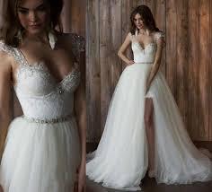 amazing wedding dresses amazing lace straps sweetheart high low wedding dress two