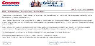 Costco Resume Costco Job Application And Employment Resources Job Application