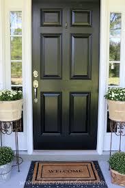 Painting Exterior Doors Ideas Best 25 Black Front Doors Ideas On Pinterest Black Door Black