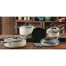 best black friday deals on pots and pans the pioneer woman vintage speckle 10 piece non stick pre seasoned