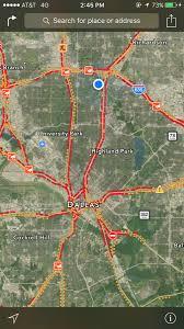 Dallas Map Traffic by Duke Deen Dukedeen Twitter