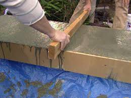 how to build a concrete fireplace hearth hgtv