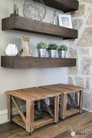 Hanging Wall Shelves Woodworking Plan by Free Woodworking Plans Diy Rolling Storage Ottoman Ottomans