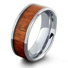 wood wedding bands 8mm tungsten wood wedding band with flat profile northernroyal