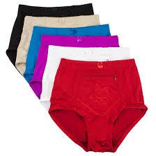 halloween underwear barbra u0027s 6 pack women u0027s travel zipper pocket girdle brief panties
