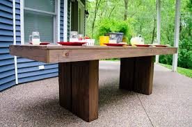Free Plans For Outdoor Table And Chairs ana white modern outdoor patio table diy projects