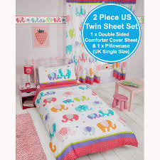 Elephant Bedding Twin Patchwork Elephant Childrens Matching Bedding Sets Curtains