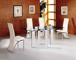 furniture dining set modern tempered glass dining table